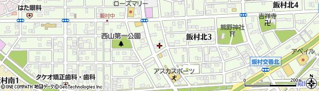 愛知県豊橋市飯村北周辺の地図