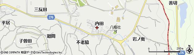 愛知県南知多町(知多郡)内海(内田)周辺の地図