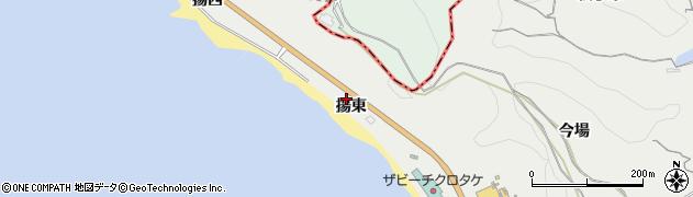 愛知県南知多町(知多郡)内海(揚東)周辺の地図