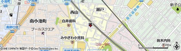 愛知県豊橋市山田町(郷)周辺の地図