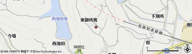 愛知県南知多町(知多郡)内海(東御所奥)周辺の地図
