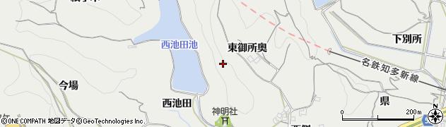 愛知県南知多町(知多郡)内海(西御所奥)周辺の地図