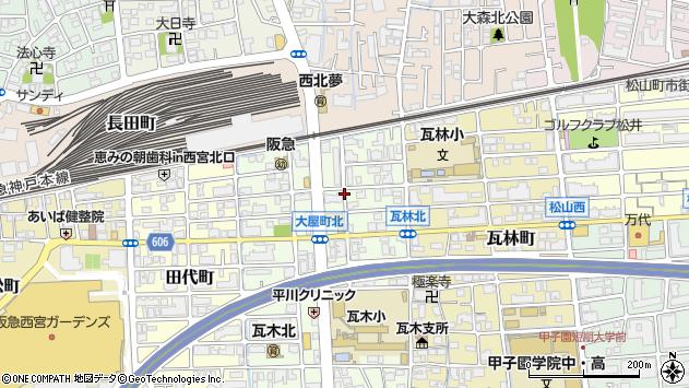 〒663-8106 兵庫県西宮市大屋町の地図