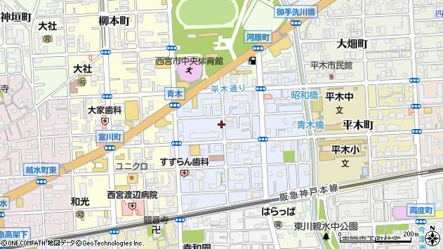 〒662-0862 兵庫県西宮市青木町の地図