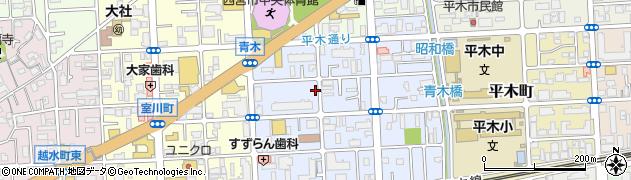 兵庫県西宮市青木町周辺の地図