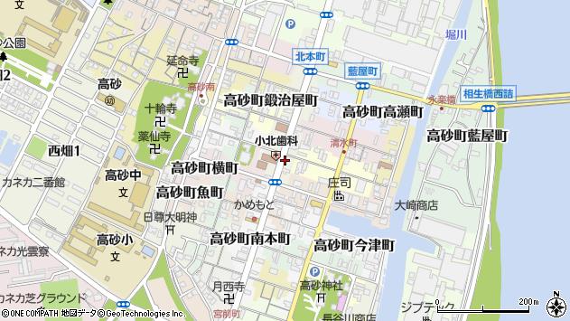 〒676-0064 兵庫県高砂市高砂町北本町の地図