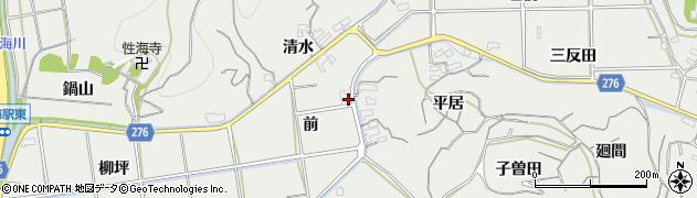 愛知県南知多町(知多郡)内海(前)周辺の地図