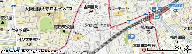 大阪府門真市朝日町周辺の地図