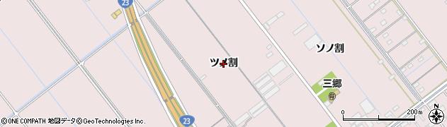 愛知県豊橋市神野新田町(ツノ割)周辺の地図