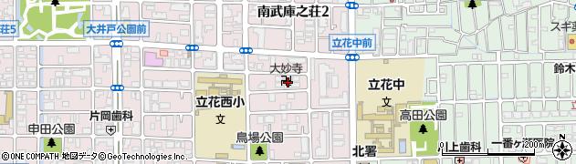 大妙寺周辺の地図