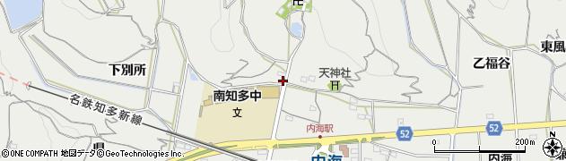 愛知県南知多町(知多郡)内海(阿麻)周辺の地図