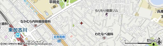 兵庫県加古川市平岡町新在家周辺の地図