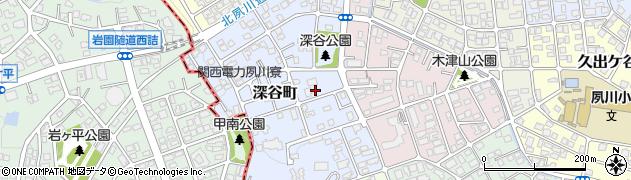 兵庫県西宮市深谷町周辺の地図
