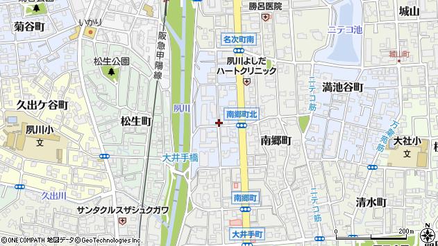 〒662-0037 兵庫県西宮市結善町の地図