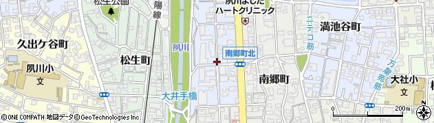 兵庫県西宮市結善町周辺の地図