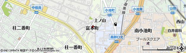 愛知県豊橋市富本町(東郷)周辺の地図