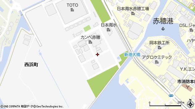 〒678-0208 兵庫県赤穂市西浜町の地図