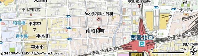 兵庫県西宮市南昭和町周辺の地図