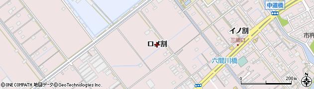 愛知県豊橋市神野新田町(ロノ割)周辺の地図