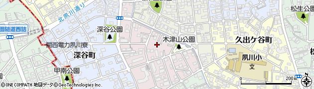 兵庫県西宮市木津山町周辺の地図