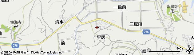 愛知県南知多町(知多郡)内海(平居)周辺の地図