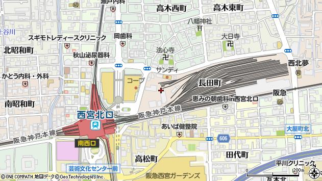 〒663-8034 兵庫県西宮市長田町の地図