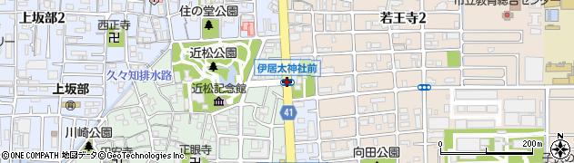 伊居太神社前周辺の地図