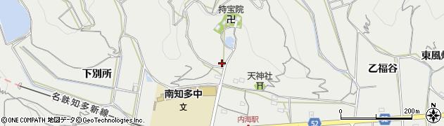 愛知県南知多町(知多郡)内海(林之峯)周辺の地図