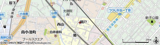 愛知県豊橋市山田町(瀬戸)周辺の地図