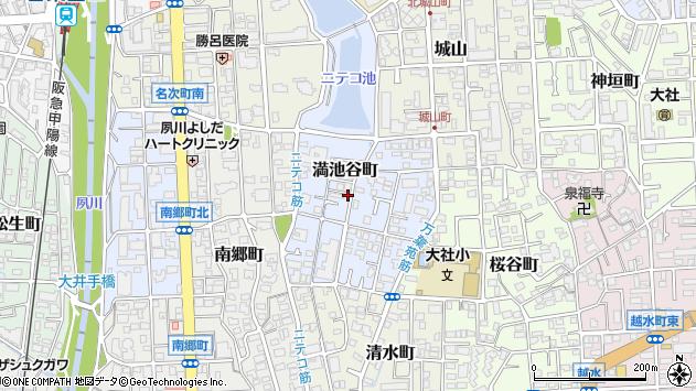 〒662-0031 兵庫県西宮市満池谷町の地図