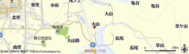 京都府木津川市加茂町里(大山)周辺の地図