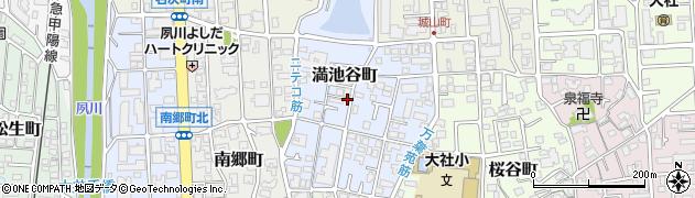 兵庫県西宮市満池谷町周辺の地図