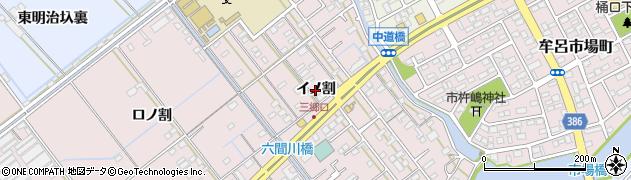 愛知県豊橋市神野新田町(イノ割)周辺の地図