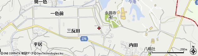 愛知県南知多町(知多郡)内海(三反田)周辺の地図