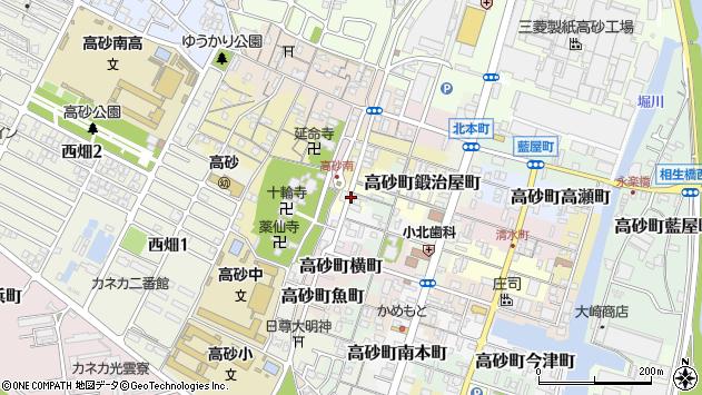 〒676-0068 兵庫県高砂市高砂町鍛冶屋町の地図