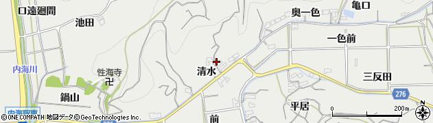 愛知県南知多町(知多郡)内海(清水)周辺の地図