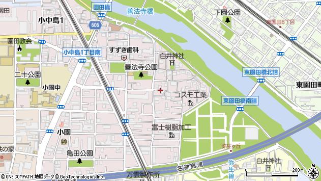 〒661-0973 兵庫県尼崎市善法寺町の地図