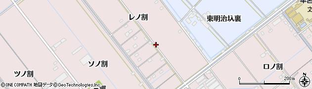 愛知県豊橋市神野新田町周辺の地図