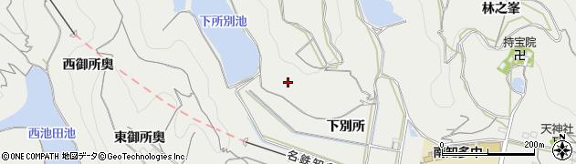 愛知県南知多町(知多郡)内海(下別所)周辺の地図