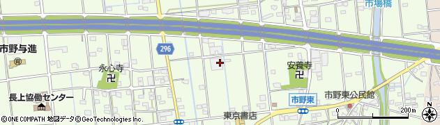 静岡県浜松市東区市野町周辺の地図
