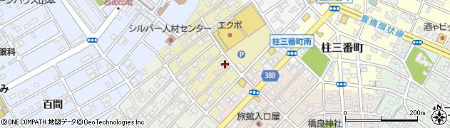 愛知県豊橋市柱五番町周辺の地図