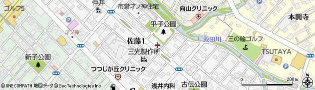 酒座楽志舎周辺の地図