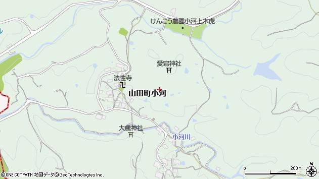 〒651-1105 兵庫県神戸市北区山田町小河の地図