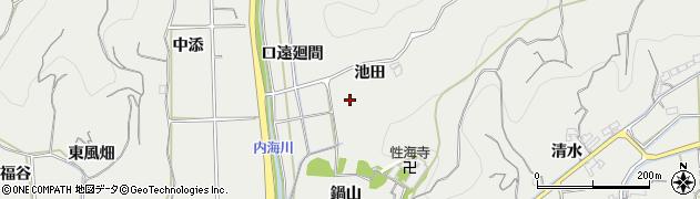 愛知県南知多町(知多郡)内海(池田)周辺の地図