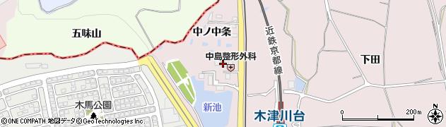 京都府木津川市吐師(南ノ中条)周辺の地図