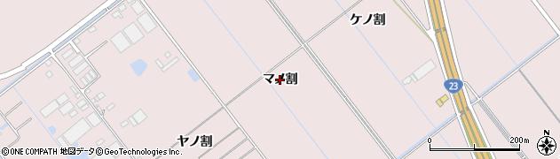 愛知県豊橋市神野新田町(マノ割)周辺の地図