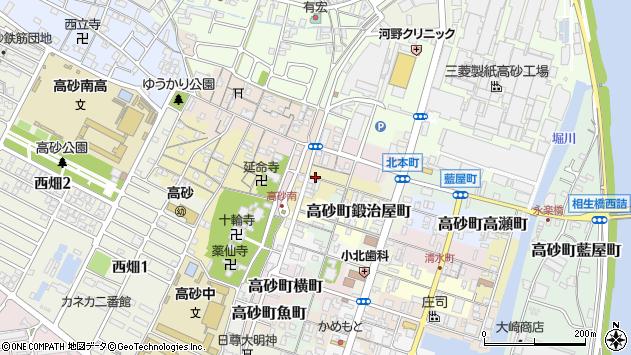 〒676-0063 兵庫県高砂市高砂町次郎助町の地図