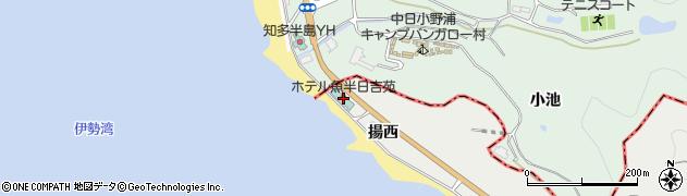 愛知県南知多町(知多郡)内海(揚西)周辺の地図