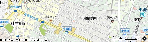 愛知県豊橋市中橋良町周辺の地図
