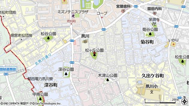 〒662-0061 兵庫県西宮市松ケ丘町の地図